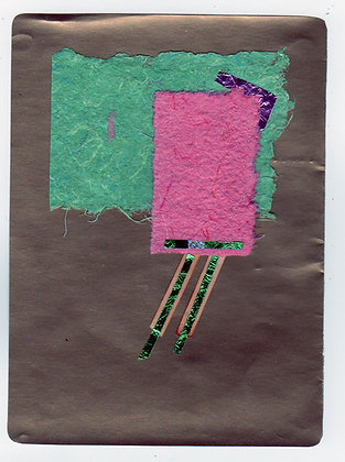 Pink & Green, Collage