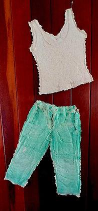 TankTop & Jeans, Hand Cast Paper