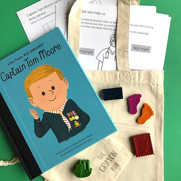 Story Activity Pack Captain Tom Moore ww