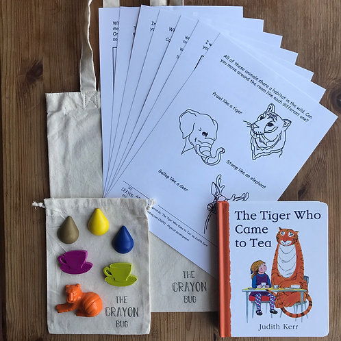 *The Tiger Who Came to Tea Inspired Story Activity Pack*
