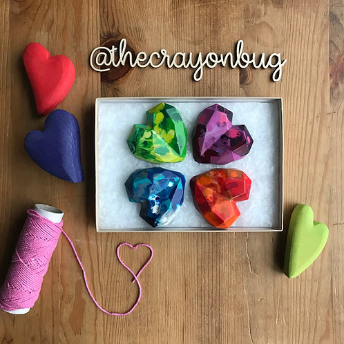 *Giant Marbled Love Heart Crayons*