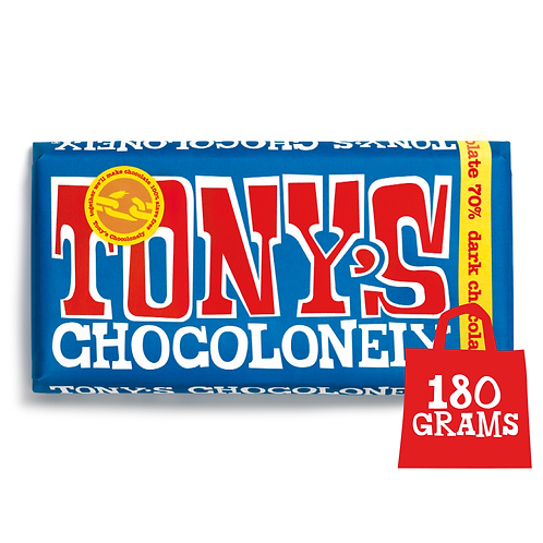 Tony's Chocolonely Extra Dark Chocolate 70% 180g