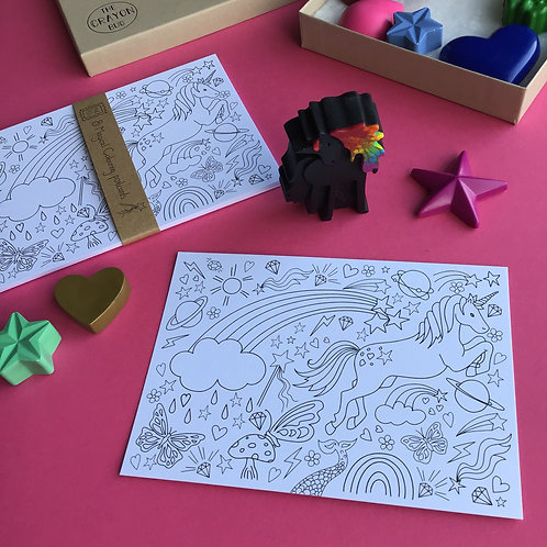 Pack of 8 Magical Postcards to Colour In