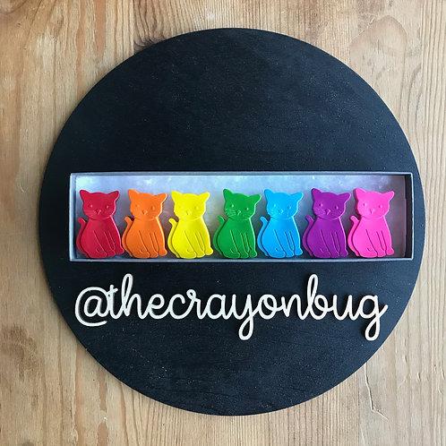 Rainbow Cat Crayons
