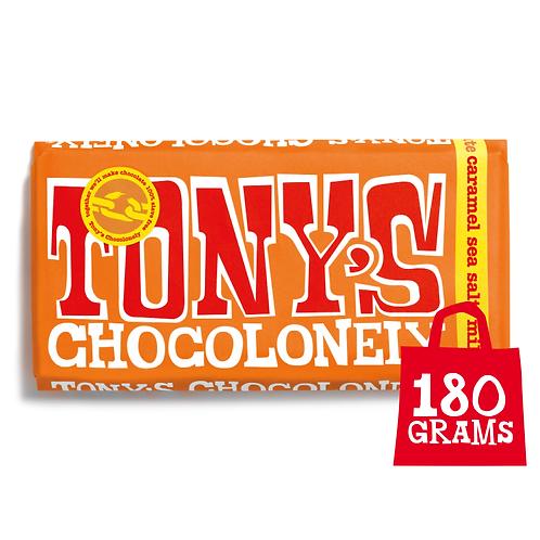 Tony's Chocolonely Caramel Sea Salt 180g