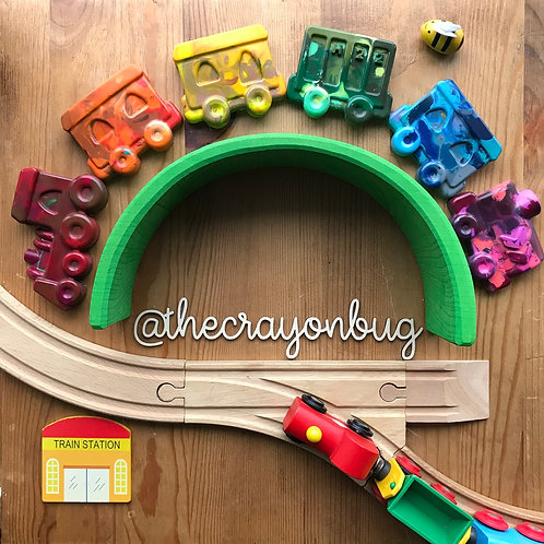 Giant Marbled Train Crayons