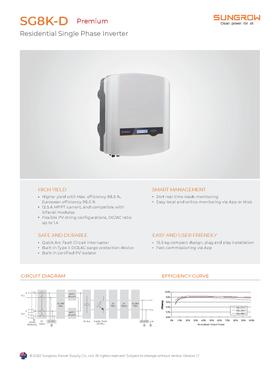 Sungrow - SG8K-D - Premium - Data Sheet