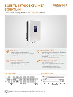 Sungrow - SG5KTL-MT - SG6KT-MT - SG8KTL-M - Data Sheet