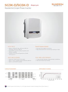 Sungrow - SG3K-D SG5K-D Premium - Data Sheet