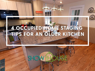4 Occupied Home Staging Tips for an Older Kitchen