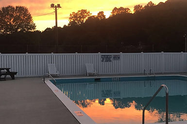 Our pool at sunset