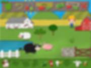 my felt world image of an farm scene