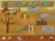 my felt world image of an safari scene