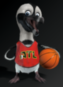 3d pengin as a basketball player