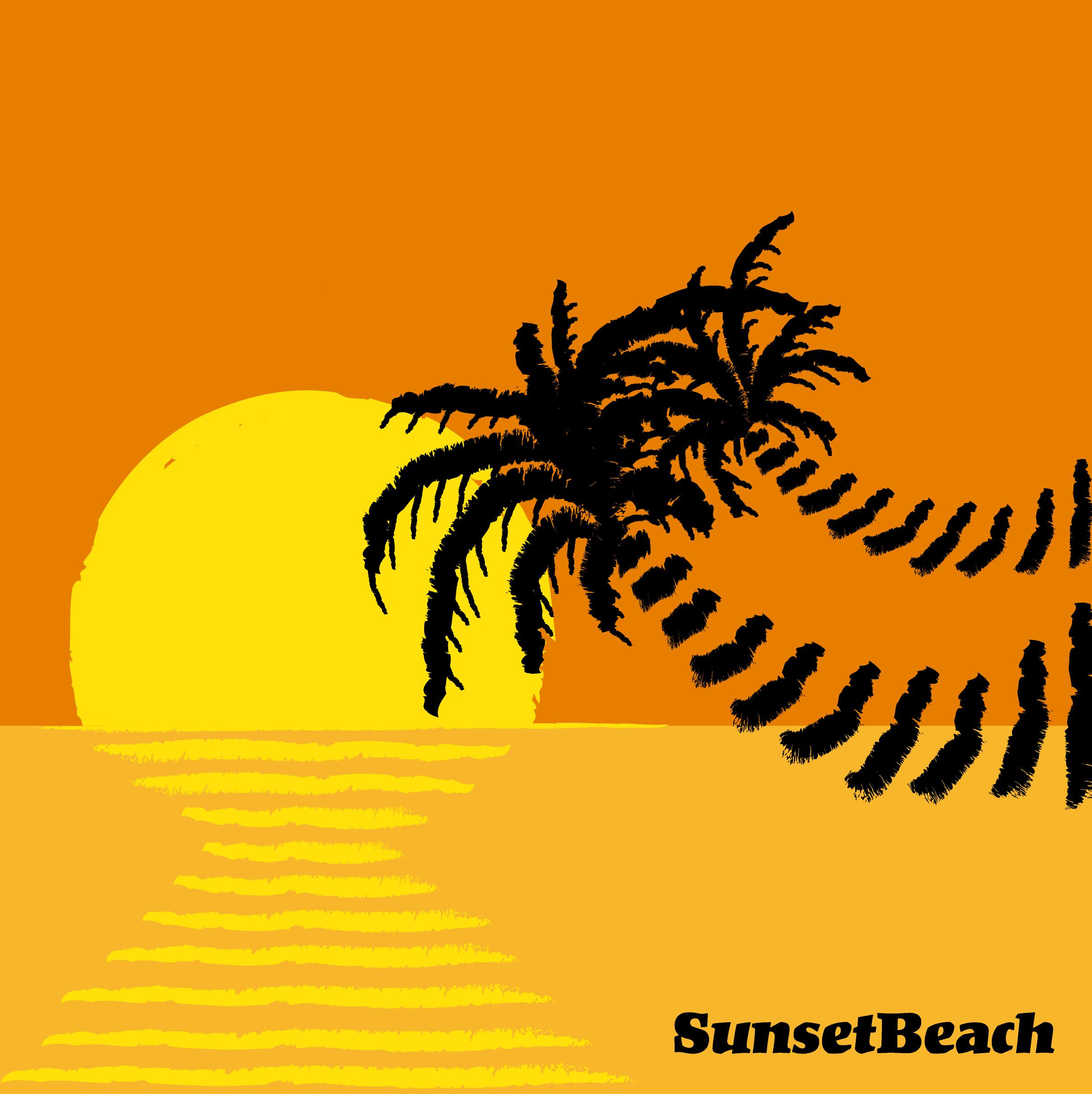 SunsetBeachジャケット:PNG
