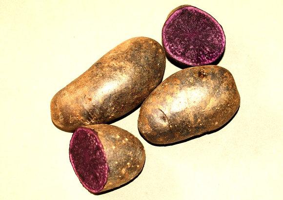 Blaufleischige Kartoffeln