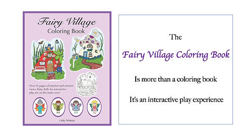 What can you do with the Fairy Village Coloring Book?