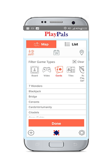 PlayPals app game filter page.png