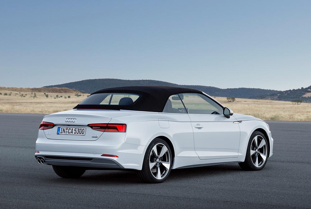 2017 Audi A5 - rear with roof up