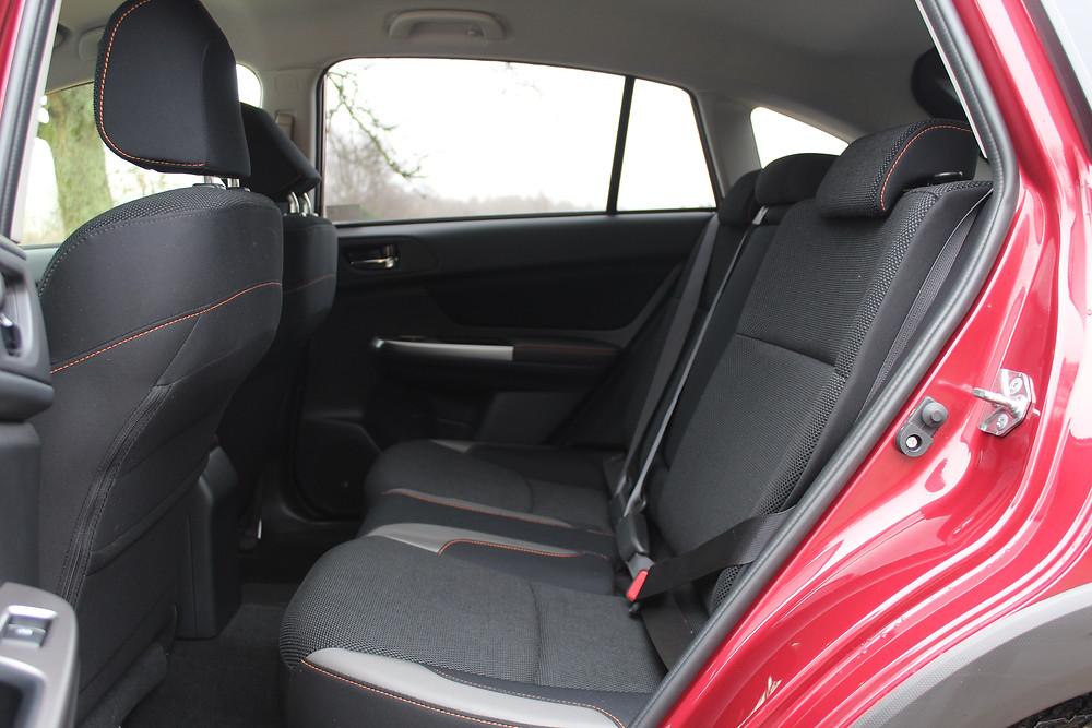 2017 Subaru XV 2.0-litre SE - rear seats