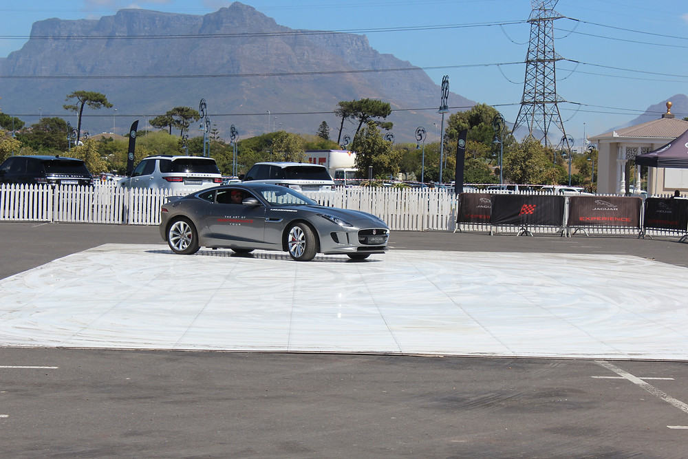Jaguar F-Type on skid pan