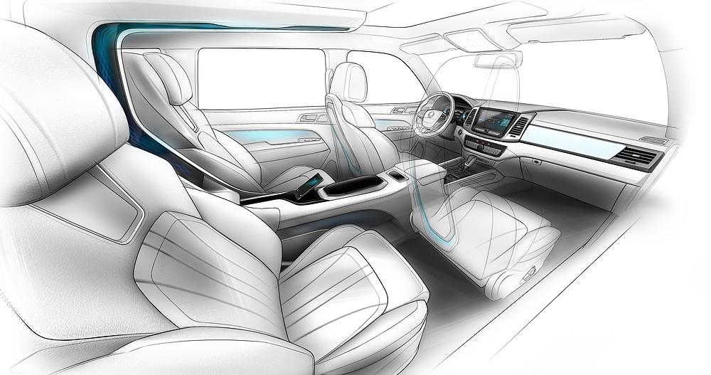 Ssangyong LIV-2 SUV Concept - interior