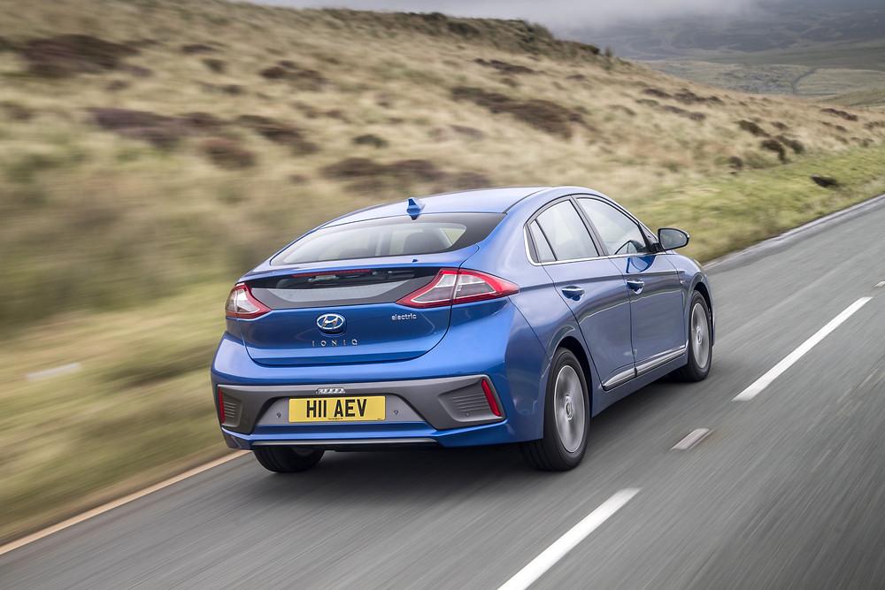 2017 Hyundai Ioniq Electric - rear 3/4