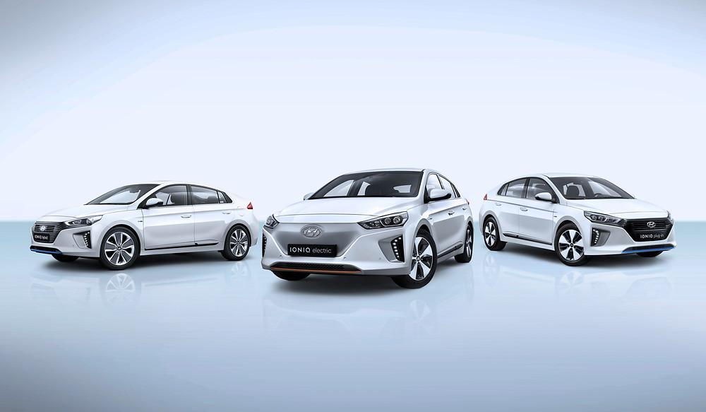 Hyundai IONIQ three car electric line-up