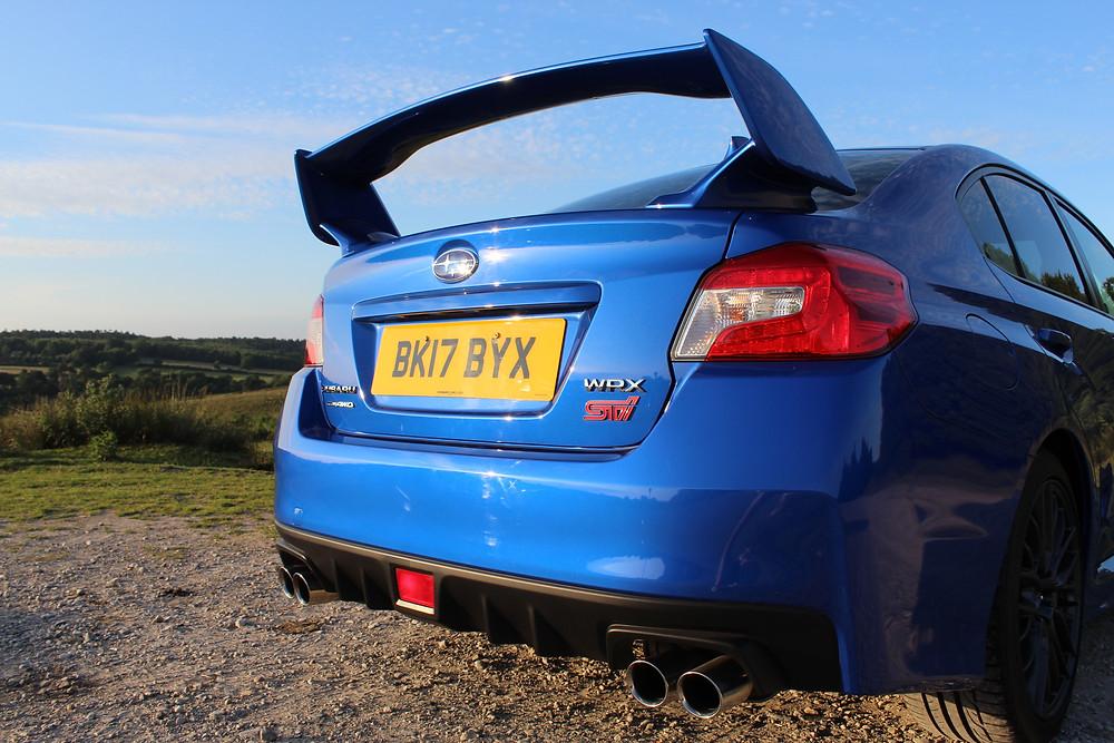 2017 Subaru WRX STi boot spoiler
