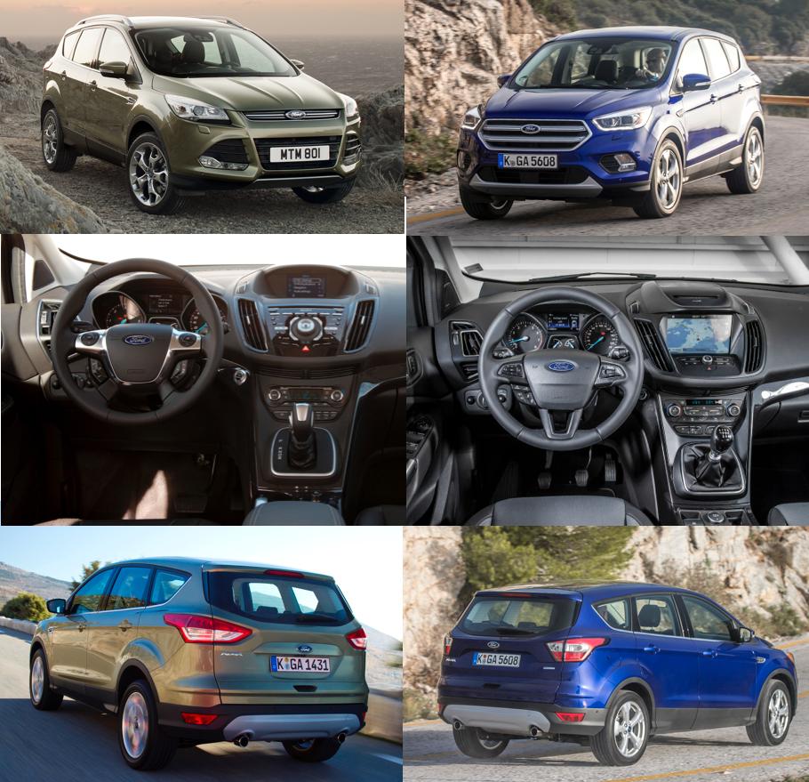 Ford Kuga comparison - Old v New