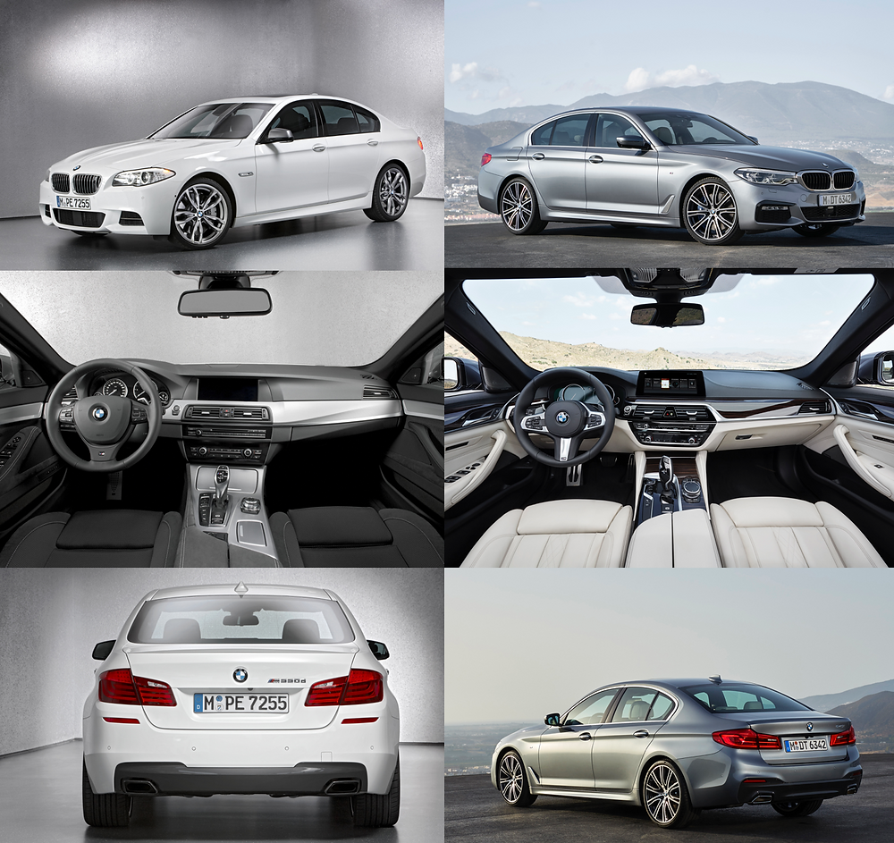 Compare sixth and seventh-generation BMW 5-Series