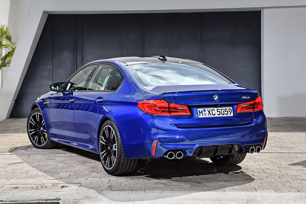 BMW M5 rear 3/4