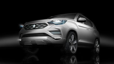 2017 Ssangyong LIV-2 SUV Concept at Paris Motor Show