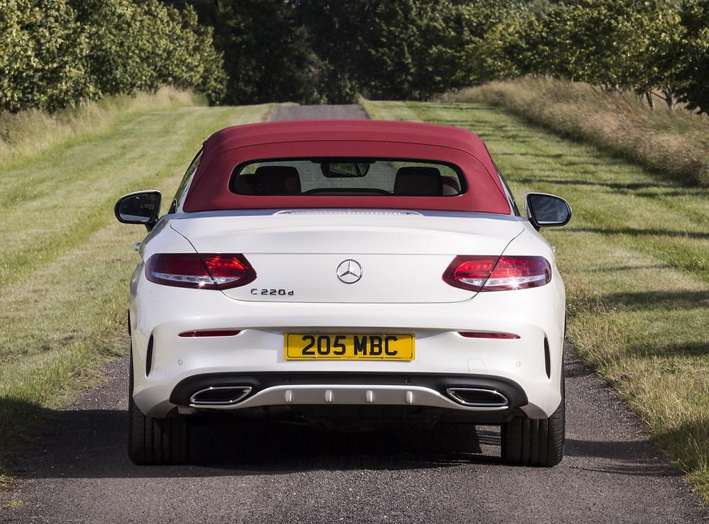 Mercedes C-Class Cabriolet - rear hood up