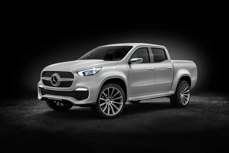 2017 Mercedes X-Class pick-up coming to a construction site near you