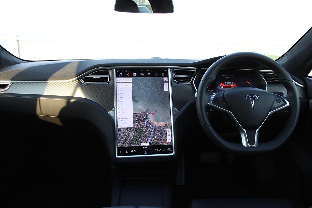 2017 Tesla Model S 100D - interior