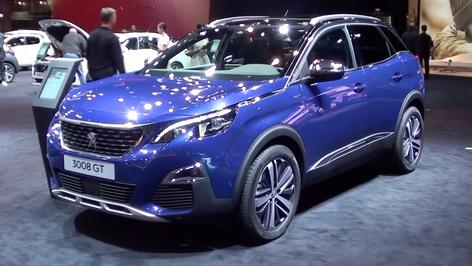 2017 Peugeot 3008 compact SUV Paris debut