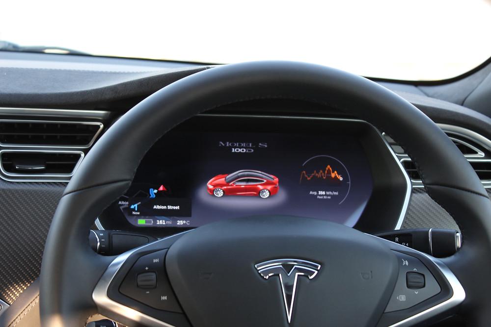 2017 Tesla Model S 100D - instrument panel