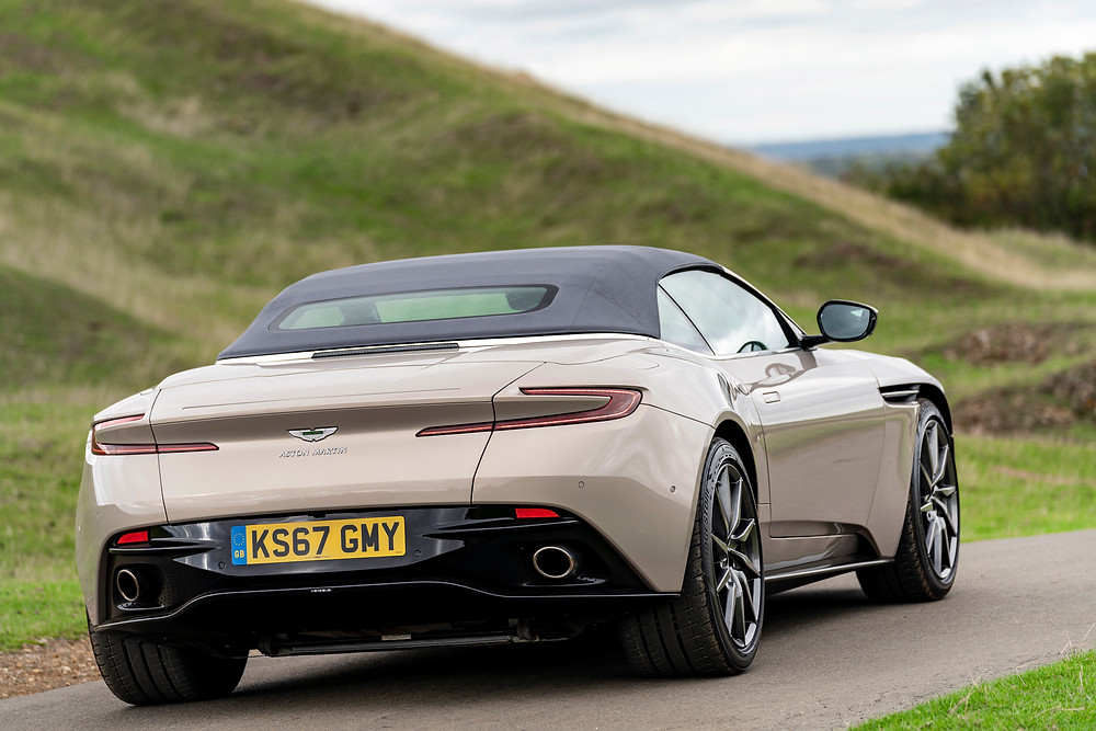 2019 Aston Martin DB11 Volante rear 3/4
