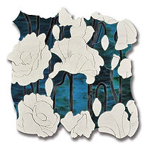 SUBLIME BOUQUET AZURITE TALC AND INK ART
