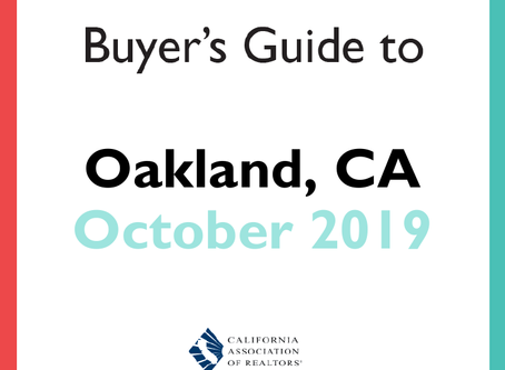 Home buyers guide to Oakland - October 2019