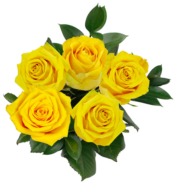 Lemon Natural Rose Bouquet