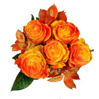 Apricot Rose Bunch Enhanced