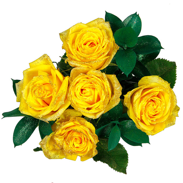 Lemon Enhanced Rose Bouquet
