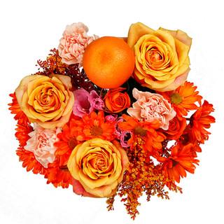 Orange Mixed Bouquet Enhanced