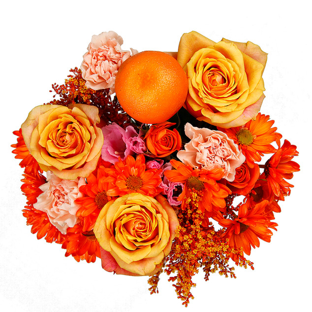 Orange Enhanced Mixed Bouquet
