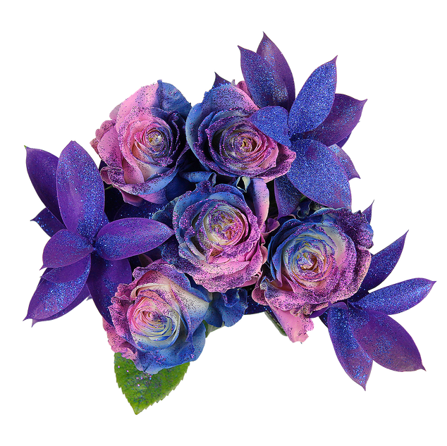 Blueberry Enhanced Rose Bouquet