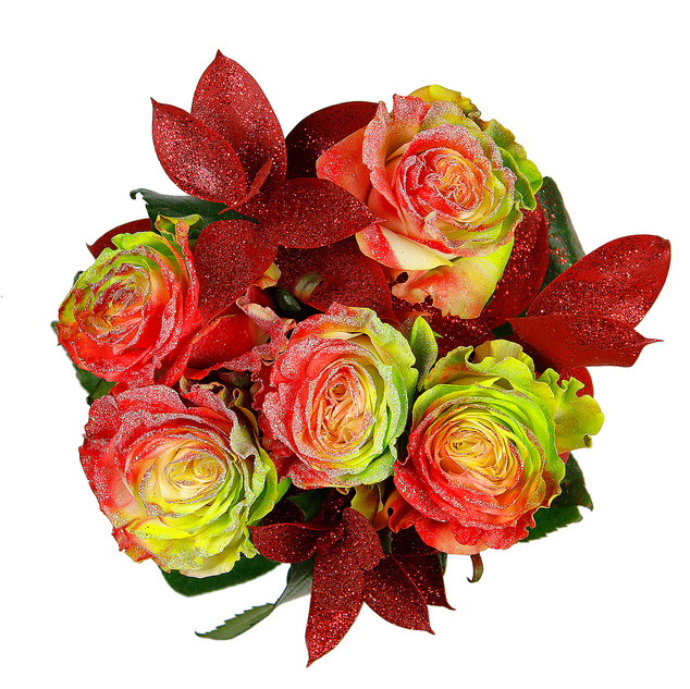 Apple Enhanced Rose Bouquet