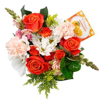Orange Mixed Bouquet Natural