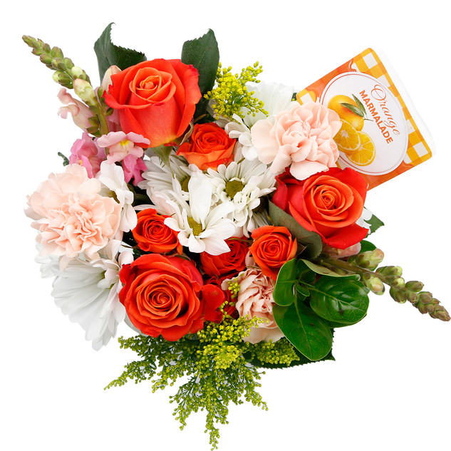 Orange Natural Mixed Bouquet